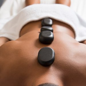 relaxing massages with hot stones